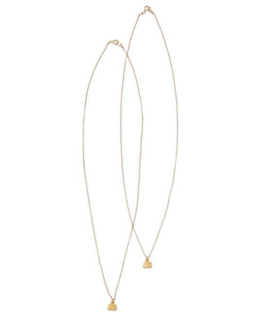 Dogeared | Metallic Best Friends Little Elephant Charm Necklace Set | Lyst