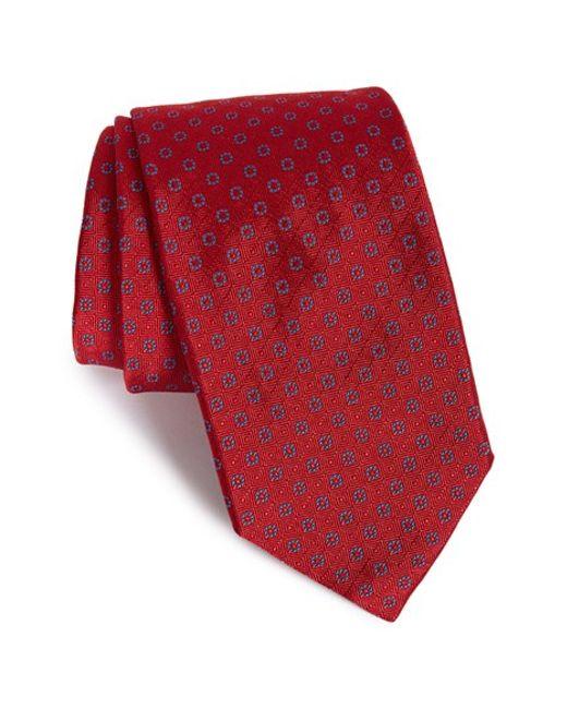 Robert Talbott | Red Best Of Class Geometric Silk Tie for Men | Lyst