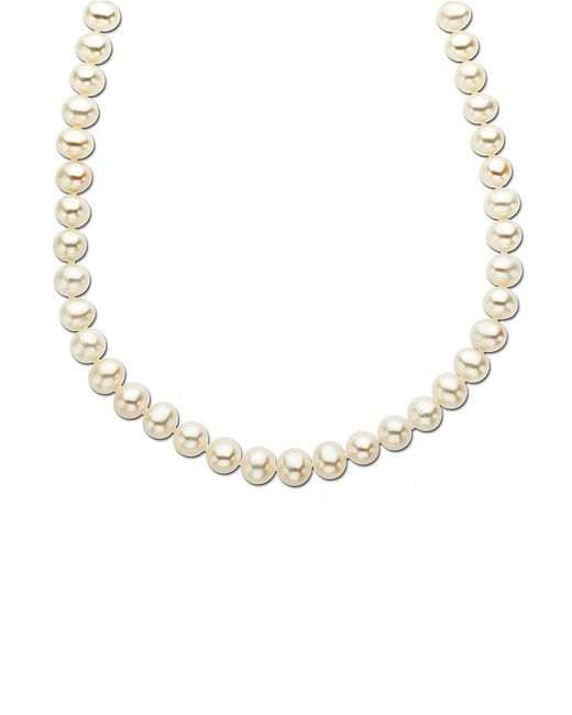 Lord & Taylor | Metallic 14 Kt. Yellow Gold Freshwater Pearl Strand Necklace | Lyst