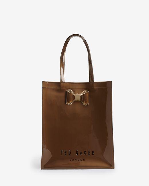 Ted Baker | Metallic Large Bow Trim Shopper Bag | Lyst