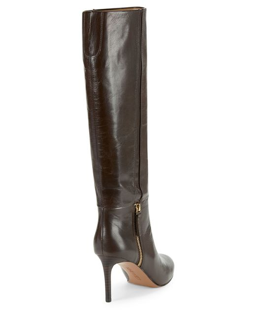 nine west vintage leather knee high boots in brown