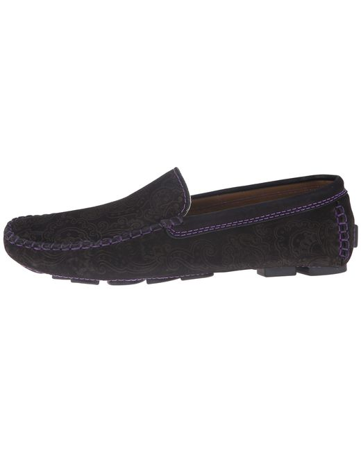 Robert Graham | Black Printed Moc Toe Slip-on Sneakers for Men | Lyst
