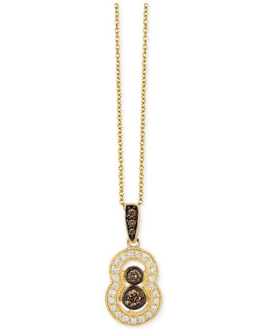 Le Vian | Metallic Vanilla Deco Estate Gold Diamond (1/3 Ct. T.w.) Pendant In 14k Gold | Lyst