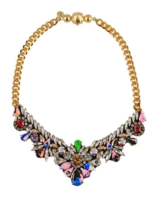 Shourouk | Apolonia Necklace in Pink | Lyst