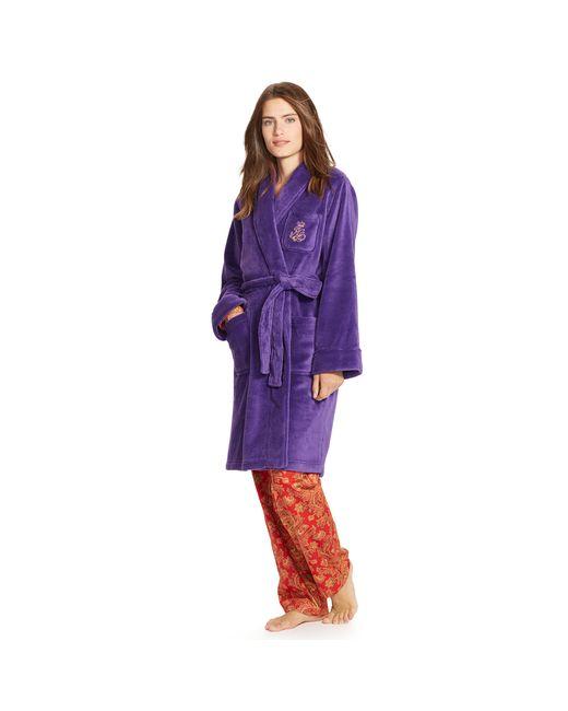 Pink Pony | Purple Plush Shawl-collar Robe | Lyst