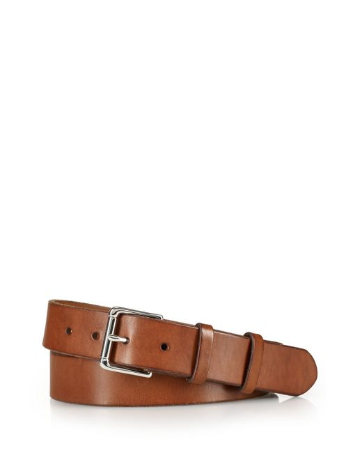pink pony polo west end leather belt in brown for