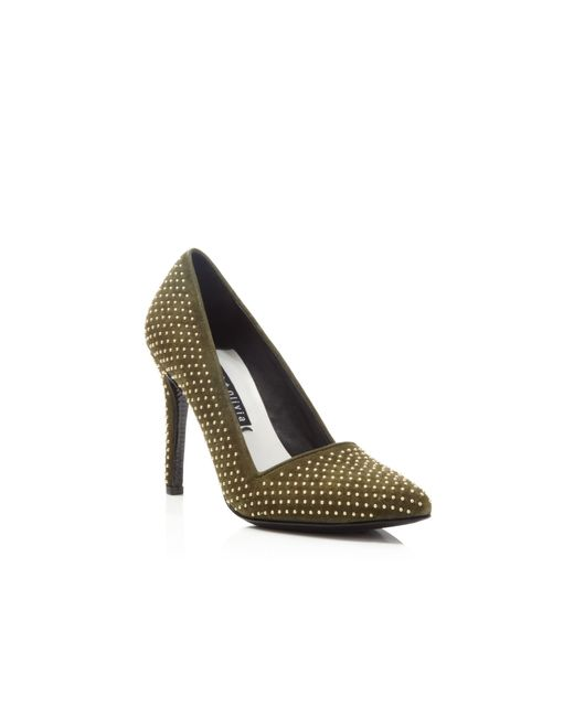 Alice + Olivia | Green Alice + Olivia Dame Studded Pumps | Lyst