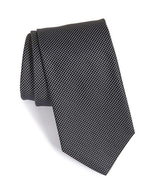 John W. Nordstrom | Black John W. Nordstrom 'benjamin' Grid Silk Tie for Men | Lyst