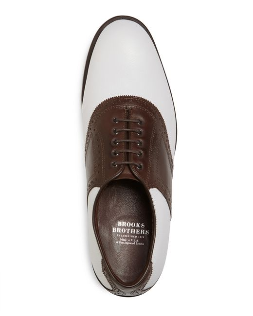 Brooks Brothers   White Redan Golf Shoes for Men   Lyst