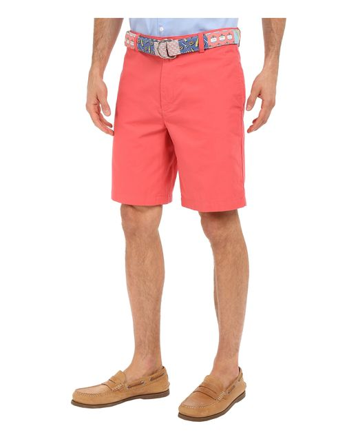 """Vineyard vines 9"""" Classic Summer Club Shorts in Red for ..."""