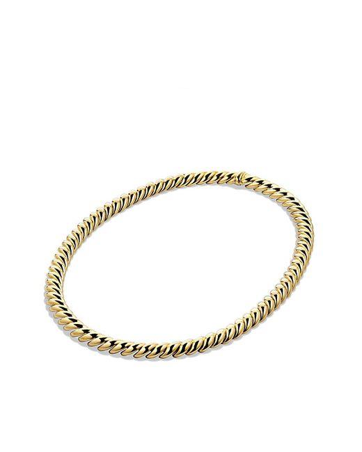 David Yurman | Metallic Hampton Cable Link Necklace In 18k Gold | Lyst