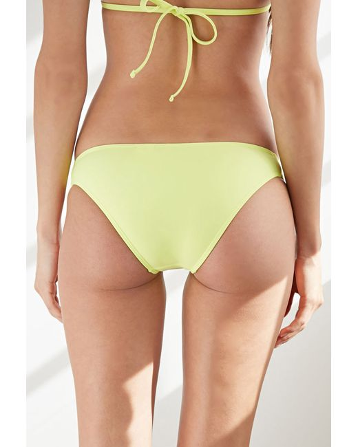 Forever 21 | Yellow Loop-side Low-rise Bottoms | Lyst