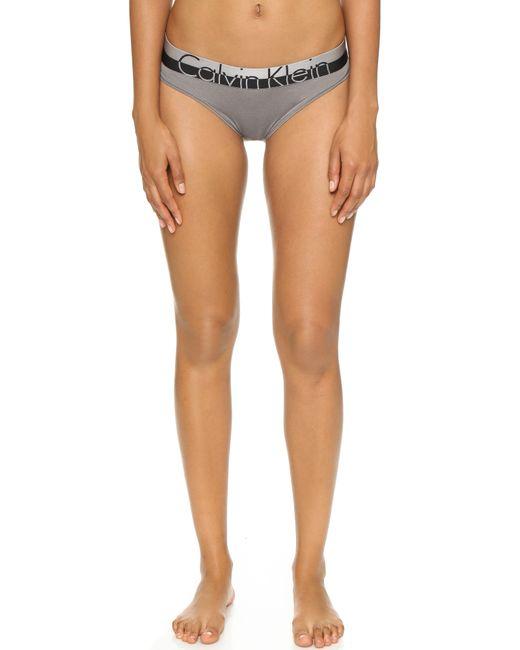 Calvin Klein | Gray Magnetic Force Bikini Panties | Lyst