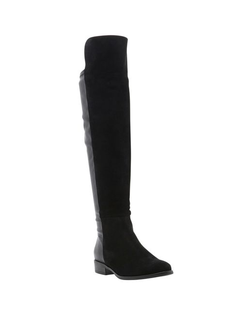 Dune | Black Trish Over The Knee Boots | Lyst