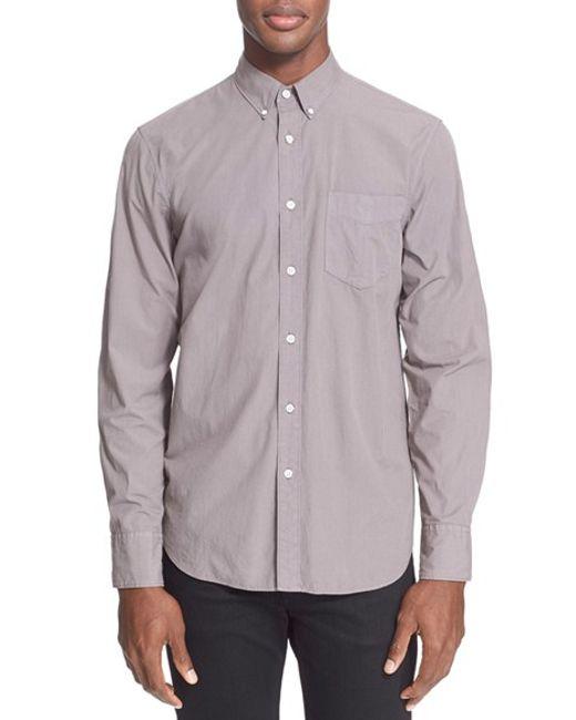 Rag & Bone | Gray Standard Issue Trim Fit Shirt for Men | Lyst