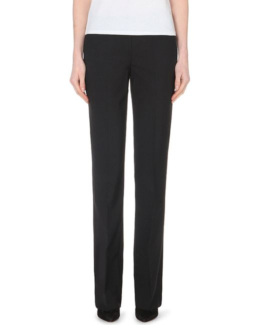Theory | Black Max Straight-leg Stretch-wool Trousers | Lyst