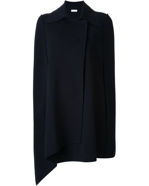 Scanlan Theodore Knit Trench Cape In Blue