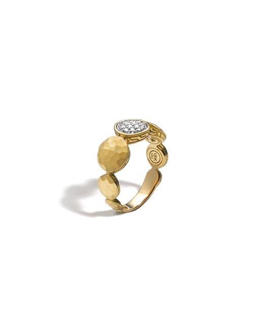 John Hardy | Metallic Palu 18k Gold Diamond Pave Ring, .10 Ct. T.w. | Lyst