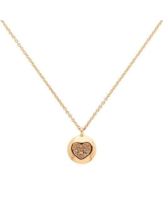 Melissa Odabash | Metallic Rose Gold Plated Swarovski Crystal Heart Disc Pendant | Lyst