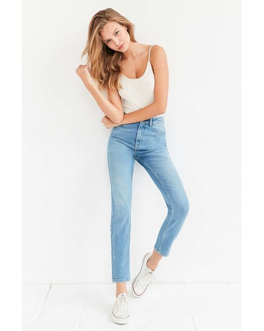 BDG | Blue Girlfriend High-rise Jean - Light Wash | Lyst
