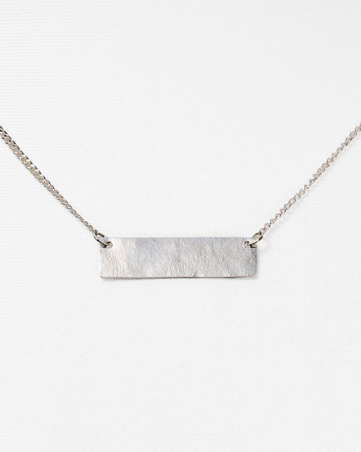 "Phyllis + Rosie | Metallic Phyllis + Rosie Bar Pendant Necklace, 16"" | Lyst"
