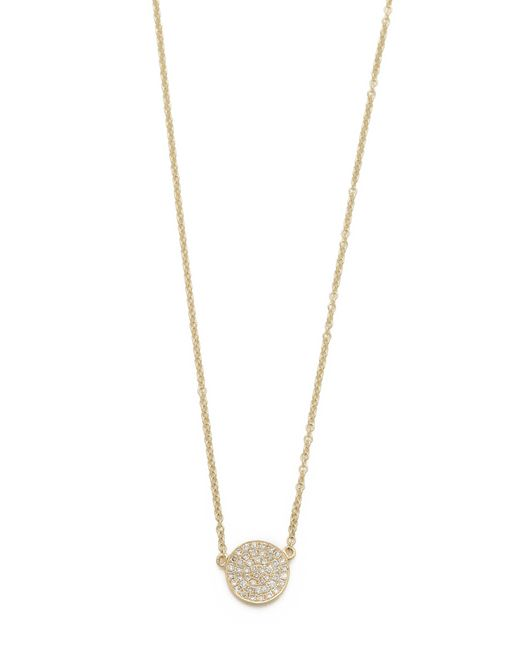 EF Collection | Yellow Medium Pave Diamond Disc Necklace | Lyst