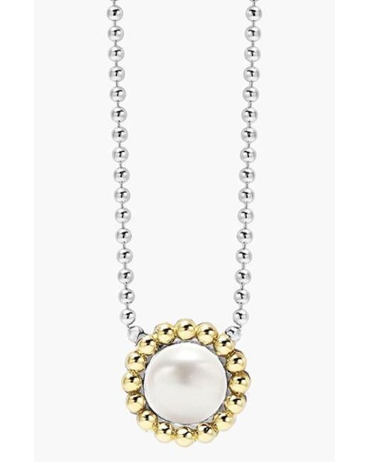 Lagos | White Stone Pendant Necklace | Lyst
