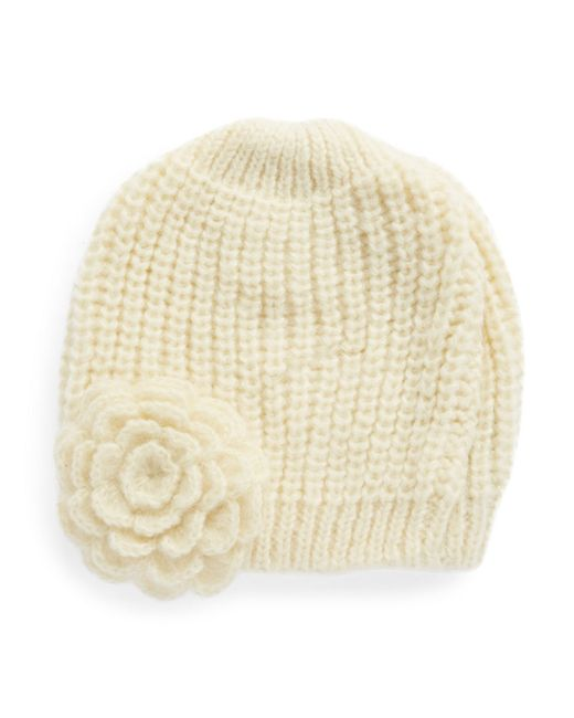 Wooden Ships | White Knit Flower Beanie | Lyst