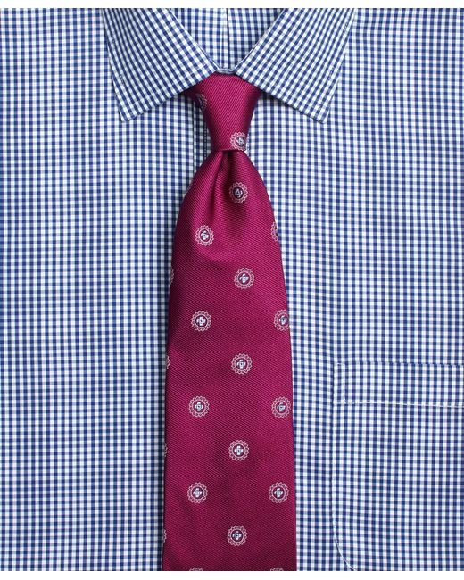 Brooks Brothers | Pink Textured Spaced Medallion Tie for Men | Lyst