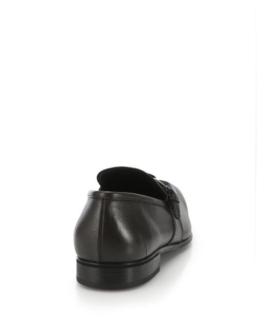 Ferragamo   Black Pinot Leather Loafers for Men   Lyst