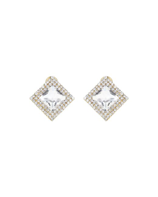 Mikey | Metallic Square Stone Marquise Earring | Lyst