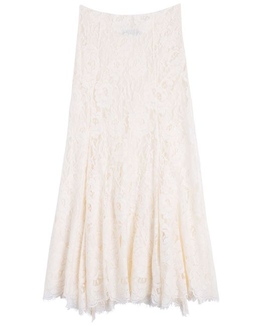 Polo Ralph Lauren | Florence Lace Skirt - Beige | Lyst