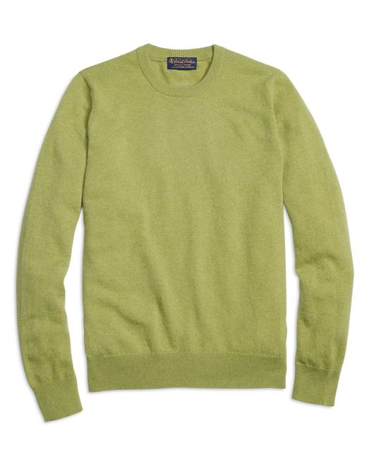 Brooks Brothers | Green Cashmere Crewneck Sweater for Men | Lyst