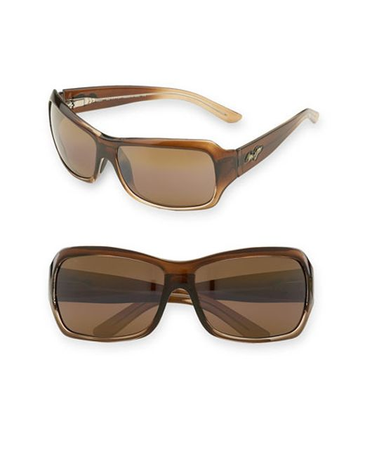 Maui Jim | Brown 'palms' 63mm Sunglasses | Lyst
