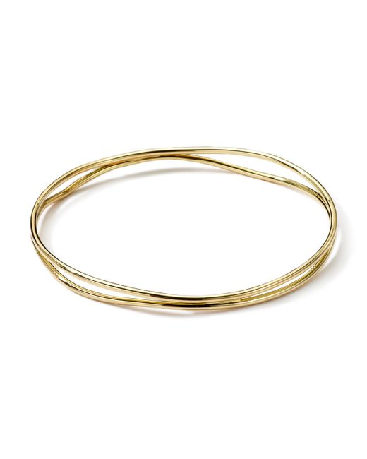 Ippolita | Metallic 18k Gold Smooth Electroform Double Band Wavy Bangle | Lyst