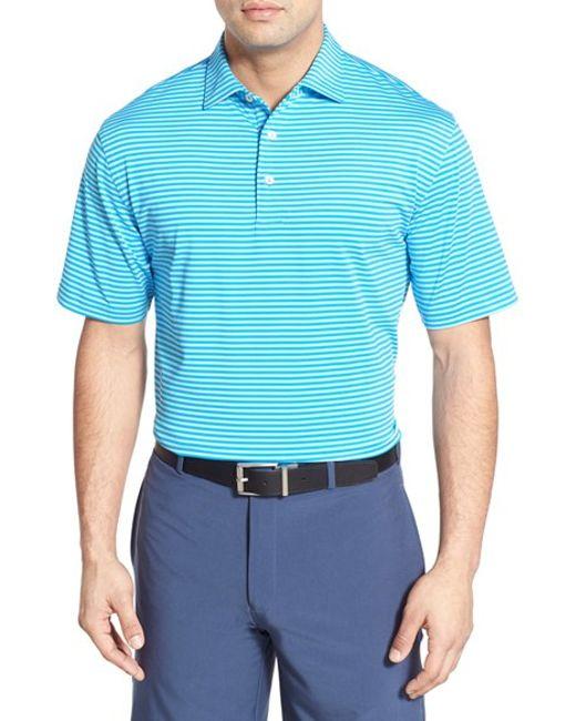 Peter millar stripe moisture wicking stretch jersey golf for Peter millar golf shirts