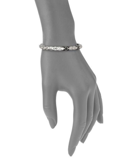 John Hardy | Metallic Naga Black Sapphire & Sterling Silver Slim Kick Cuff Bracelet | Lyst