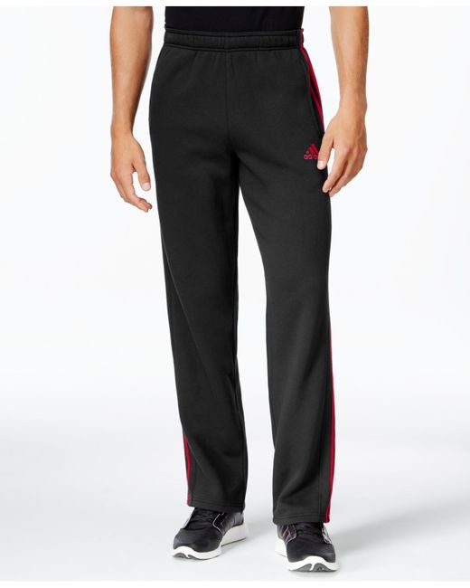 Adidas Originals | Black Men's Essentials Cotton Fleece Pants for Men | Lyst