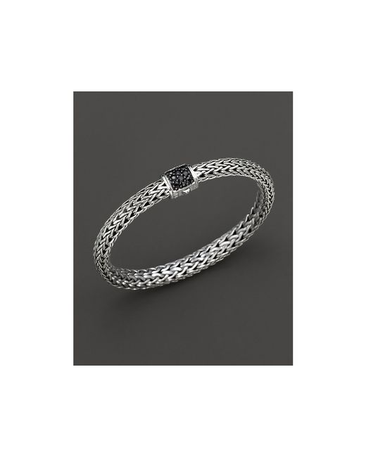 John Hardy | Metallic Classic Chain Sterling Silver Small Bracelet With Black Sapphire Clasp | Lyst