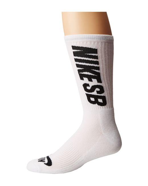 Nike | White Sb 3-pack Crew Socks for Men | Lyst