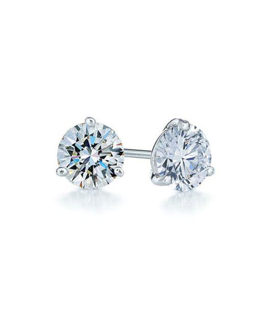 Kwiat   Blue 1.25ct Tw Diamond & Platinum Stud Earrings   Lyst