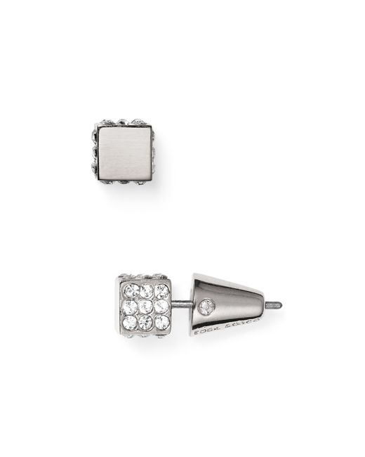 Eddie Borgo | Metallic Pave Cube Stud Earrings | Lyst