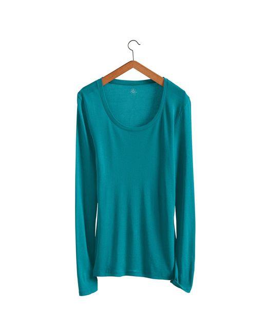 Petit Bateau | Blue Women's Long-sleeved Light Cotton Tee | Lyst