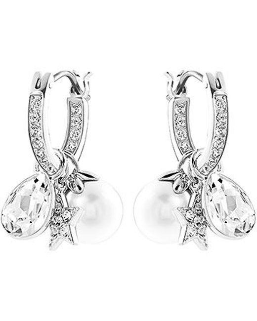 Swarovski | Metallic Canvas Earrings | Lyst