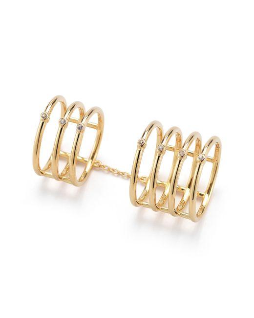 Elizabeth and James | Metallic Berlin Topaz Knuckle Ring Gold | Lyst