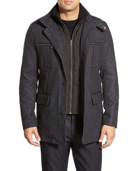 Cole Haan | Gray Wool Blend Jacket for Men | Lyst