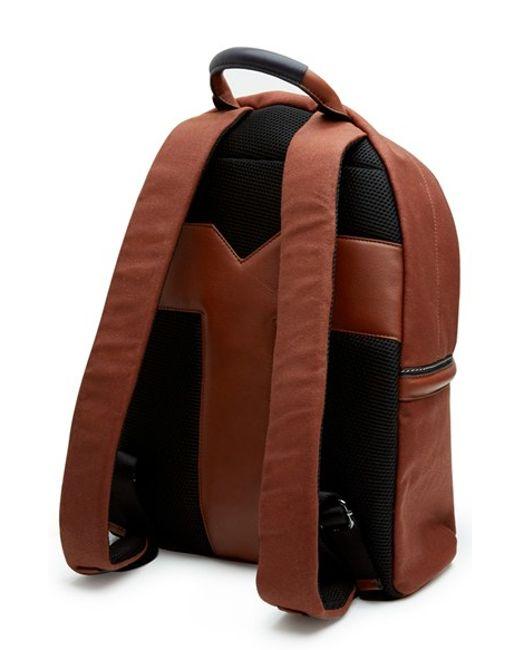 ted baker 39 brandor 39 backpack in brown for men tan lyst. Black Bedroom Furniture Sets. Home Design Ideas