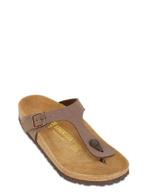 birkenstock gizeh nubuck thong sandals in brown for men lyst. Black Bedroom Furniture Sets. Home Design Ideas