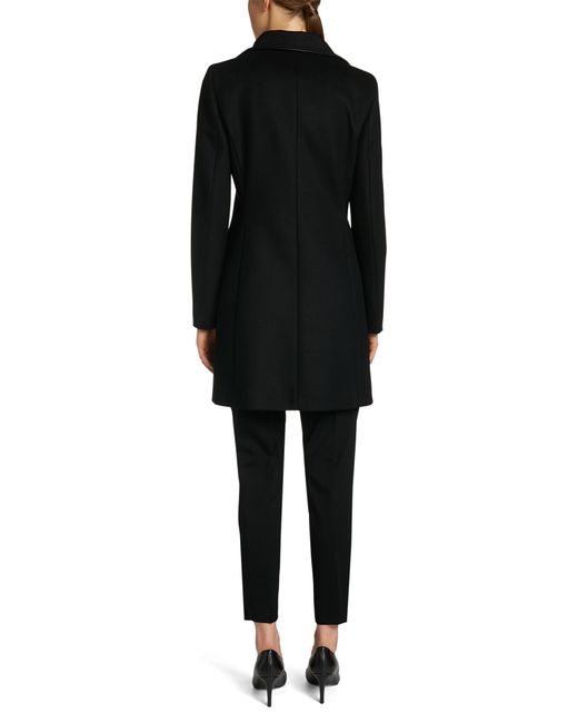 HUGO | Black Coat In A New-wool Blend With Cashmere: 'maluba' | Lyst