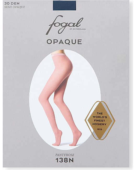 Fogal | Blue Opaque Tights | Lyst